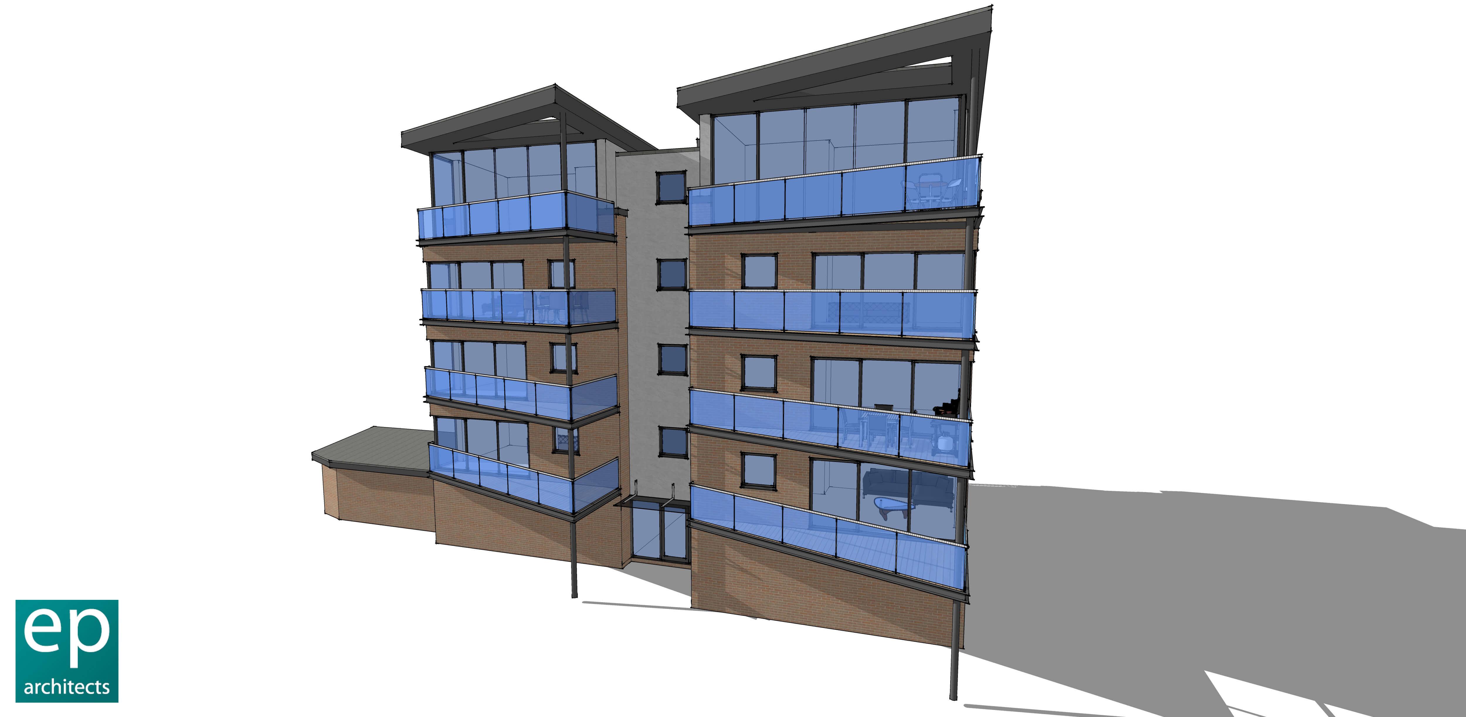 Luxury Apartment Building Balconies