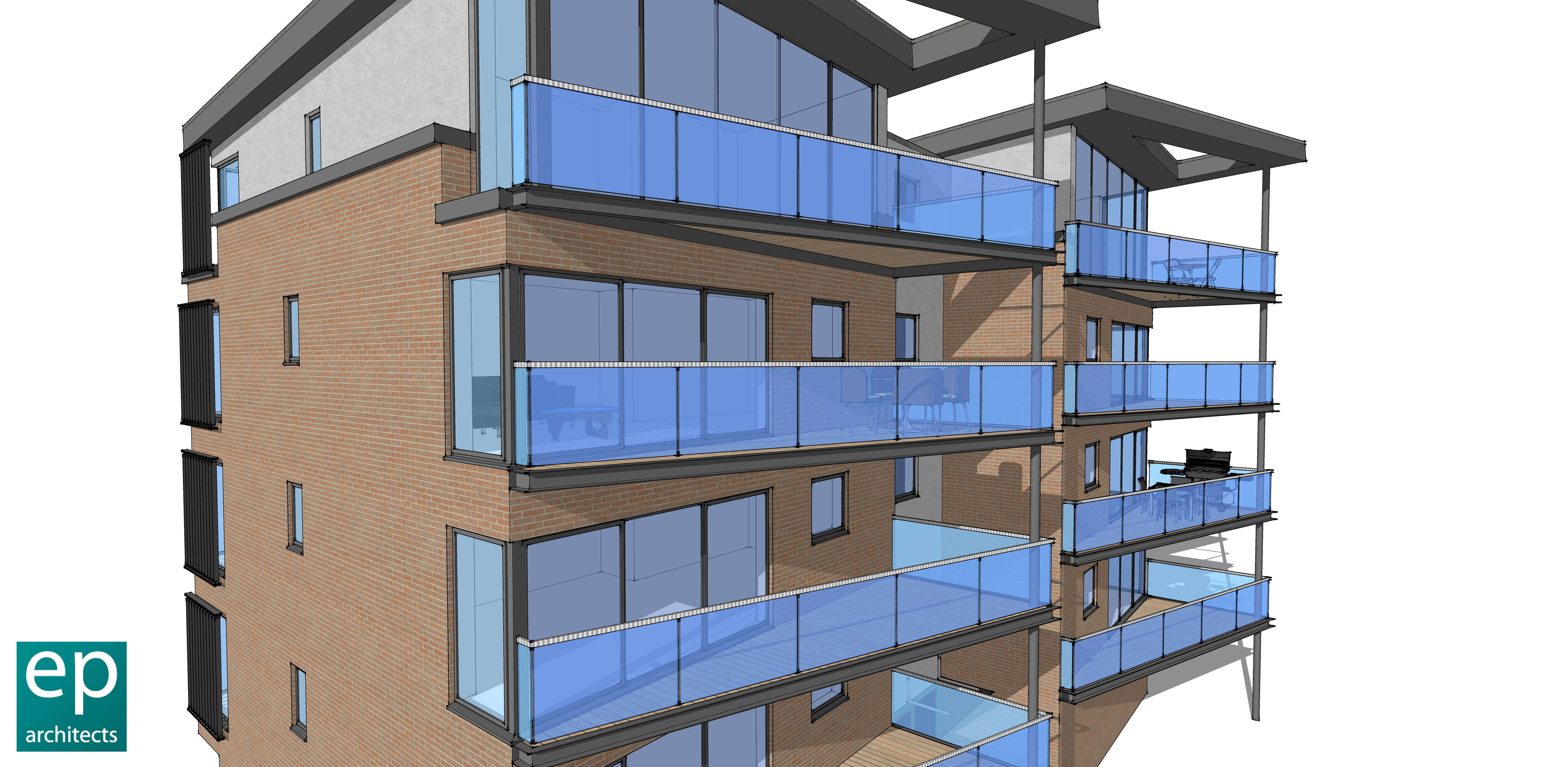 Luxury Waterfront Apartments 3D Visual